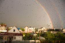 Rainbow Whis Drops Royalty Free Stock Image