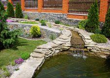 Free Lake  In  Garden Stock Image - 14558231