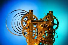 Free Clockwork On Blue-cyan Royalty Free Stock Photos - 14558528