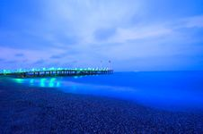Free Pontoon In The Night Stock Photography - 14558702