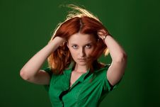 Free Young Red-Haired Woman Stock Photo - 14558740