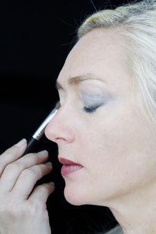 Free Applying Make-up Stock Photos - 14559043