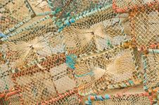 Free Lobster Pots: Background  Royalty Free Stock Photo - 14559235