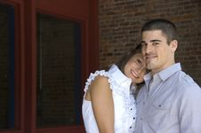 Free Attractive Couple Embrace Stock Photos - 14559403