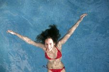 Free Woman In Swimming Pool Royalty Free Stock Image - 14559506