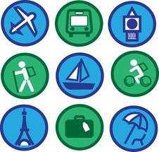 Free Traveling Icons - 2 Royalty Free Stock Image - 14559566