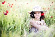 Free Woman In Field Stock Photos - 14559663