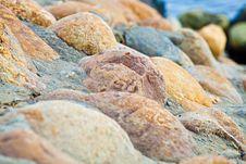 Stones At Coast Stock Photography
