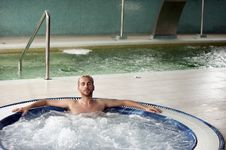 Free Handsome Man In Jacuzzi Stock Image - 14559971