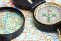 Free Compass On A Map Royalty Free Stock Photo - 14562125