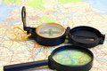 Free Compass On A Map Stock Photo - 14562280