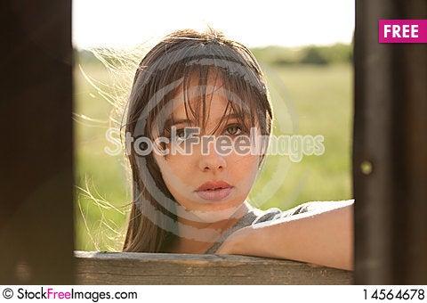 Free Image Of Beautiful Teenager Taken Through Tin Shed Royalty Free Stock Photos - 14564678