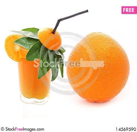 Free Orange Juice & Orange Stock Photo - 14569590