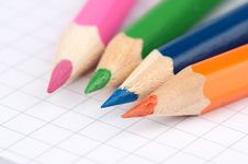 Free Colorful Pencils Royalty Free Stock Images - 14561259