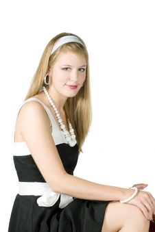 Free Portret Of Young Woman In Pinup Stock Photography - 14561302