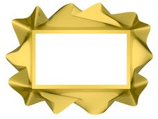 Free Golden Twisted Frame Royalty Free Stock Photography - 14561337