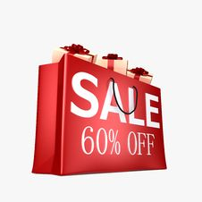 60 OFF Shopping Bag Stock Photography
