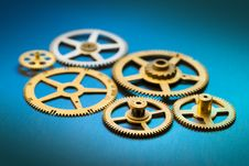 Free Old Clock Gears Stock Photos - 14561393