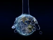 Huge Amount Of Water On The Earth Royalty Free Stock Photo