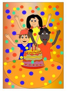 Free Kids And Cake Stock Photos - 14561853