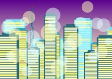 Free Abstract City Background Stock Images - 14561944