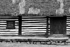 Free Black And White Traditional House Stock Photography - 14562372