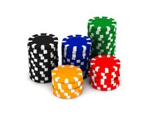 Free Game Chips Royalty Free Stock Photos - 14562438