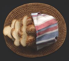 Free Fresh Bread In Basket Stock Photo - 14563010