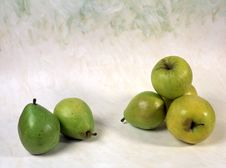 Pears And Apples Stock Images