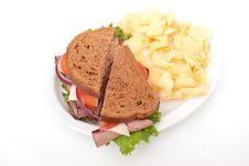 Roast Beef Sandwich On Rye Bread Stock Image