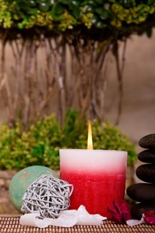 Free Spa Candle Stock Photo - 14564580