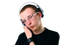 Free Young Man Listening To Music Stock Images - 14564614