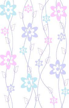 Free Spring Flower Pattern Background Royalty Free Stock Image - 14564716