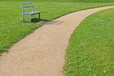 Free Bench With Footpath Royalty Free Stock Image - 14564876