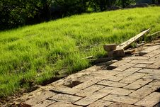 Garden Path Architecture Stock Image