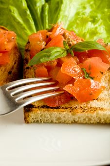 Free Bruschetta Royalty Free Stock Photography - 14565237