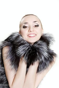 Free Young Beautiful Woman In Fur Royalty Free Stock Photo - 14565485