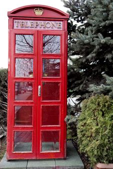 Free Red Telephone Box Stock Images - 14566134