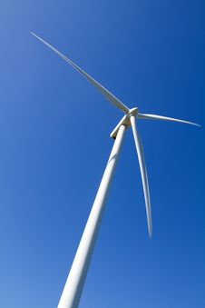 Free Wind Turbine On Blue Sky Stock Images - 14566344