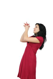 Free Young Girl With Apple Stock Images - 14566554