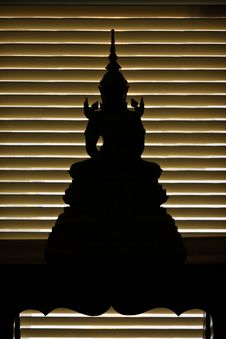 Free Silhouette Of Buddha Royalty Free Stock Photography - 14567367