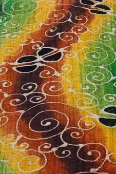Free Colorful Batik Stock Photography - 14567422