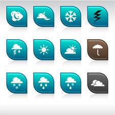 Free Weather Icons. Stock Photos - 14567663