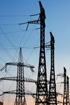 Free Electric Power Lines Stock Photography - 14568082