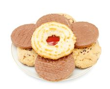 Jam Cookies And Biscuits Royalty Free Stock Photo