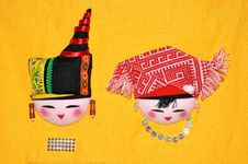 Free Finery Embroidery Of Chinese Minority Traditional Royalty Free Stock Photos - 14568488
