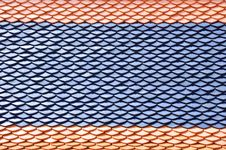 Thai Style Roof Pattern Stock Photography