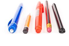 Free Pens And Pencils Royalty Free Stock Photography - 14568547
