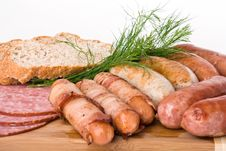 Free Grilled Sausages Royalty Free Stock Image - 14568926