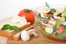 Free Vegetable Salad Royalty Free Stock Photos - 14569038
